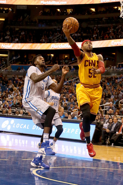 Cleveland Cavaliers v Orlando Magic [basketball,player,sports,tournament,basketball moves,basketball player,team sport,ball game,sport venue,mo williams,user,user,dewayne dedmon,user,note,orlando,cleveland cavaliers,orlando magic,game]