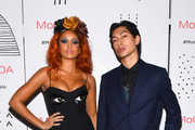 Jillian Hervey (L) and Lucas Goodman of Lion Babe attend the MoCADA 3rd Annual Masquerade Ball at Brooklyn Academy of Music on October 25, 2017 in New York City.