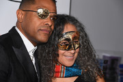 Maxwell (L) and Gina Belafonte attend the MoCADA 3rd Annual Masquerade Ball at Brooklyn Academy of Music on October 25, 2017 in New York City.