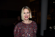 Naomi Watts, wearing Chanel, attends MoMA's Twelfth Annual Film Benefit Presented By CHANEL Honoring Laura Dern on November 12, 2019 in New York City.