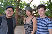 """(L-R) In this handout photo provided by WILD LIFE Sydney Zoo, actors Rico Rodriguez, Sarah Hyland and Nolan Gould of """"Modern Family"""" visit the Sydney Zoo during a trip to Australia on February 23, 2014 in Sydney, Australia."""