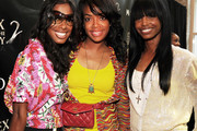 Nicole Johnson, Eboni Electra and Kim Porter attend The Moet & Chandon's Sex and the City 2 Private Screening at Wooduff Arts Center on May 26, 2010 in Atlanta, Georgia.
