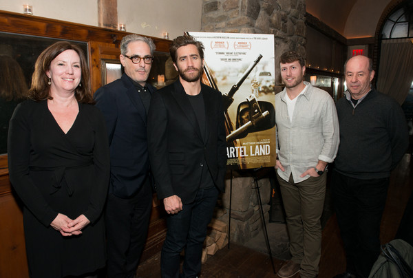 Jake Gyllenhaal and John Lesher Host Screening and Dinner Honoring 'Cartel Land' [cartel land,event,jake gyllenhaal,matthew heineman,john lesher,molly thompson,tom yellin,dinner,l-r,john lesher host screening,dinner]
