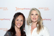 """Ellen Latham (L) and Ali Larter attend """"Momentum Shift"""" Film Premiere Highlights Orangetheory's Inspiring, Female Founder Story And Other Tales Of The Power Of Community at Directors Guild Of America on October 21, 2019 in Los Angeles, California."""