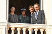 (L-R) Princess Alexandra of Hanover, Princess Caroline of Hanover, Pierre Casiraghi and Andrea Casiraghi attend Monaco National Day Celebrations on November 19, 2018 in Monte-Carlo, Monaco.