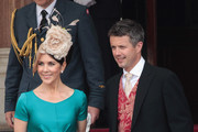 Crown Princess Mary of Denmark and husband Crown Prince Frederik of Denmark are seen leaving the Hotol de Paris to attend the religious ceremony of the Royal Wedding of Prince Albert II of Monaco to Charlene Wittstock in the main courtyard on July 2, 2011 in Monaco, Monaco.