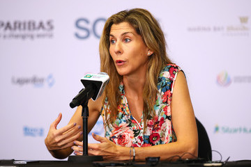 Monica Seles BNP Paribas WTA Finals: Singapore 2016 - Day Four