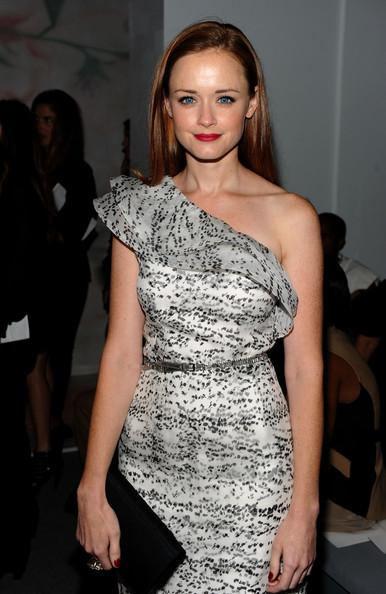 Actress Alexis Bledel attends the Monique Lhuillier Spring 2011 fashion show during Mercedes-Benz Fashion Week at The Stage at Lincoln Center on September 13, 2010 in New York City.