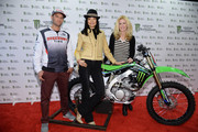 (L-R) Supercross rider Chad Reed, Supermodel Irina Pantaeva, and Alex McCord of Real Housewives of NYC attend the Monster Energy SuperCross World Championship Race at MetLife Stadium on April 26, 2014 in East Rutherford, New Jersey.