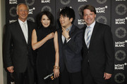 (L-R) CEO Montblanc International Lutz Bethge, Iris Berbel, Lang Lang and Montblanc Germany Thomas Schnaedter attend the Montblanc De La Culture Arts Patronage Awards 2012 at Hotel De Rome on June 14, 2012 in Berlin, Germany.