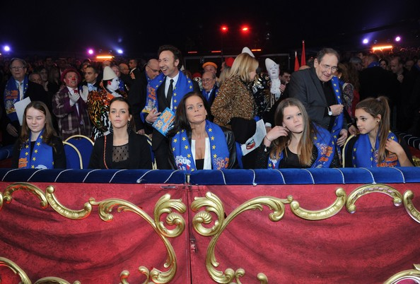 In this handout image provided by the Monaco Palace, (2nd L - 2ndR) Pauline Ducruet, Princess Stephanie of Monaco and Camille Gottlieb attend the 36th Monte-Carlo International Circus Festival on January 21, 2012 in Monte-Carlo, Monaco.