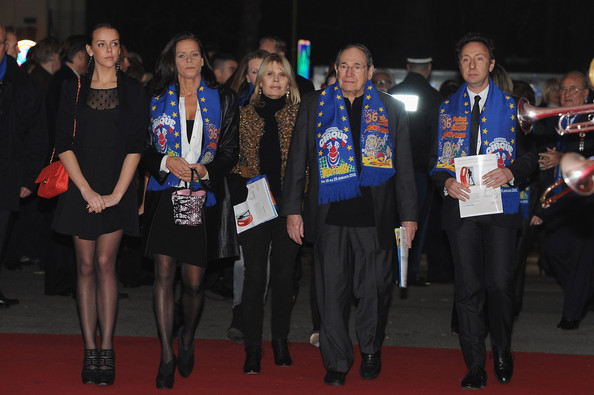 (L-R)Pauline Ducruet, Candice Patou, Princess Stephanie of Monaco, Robert Hossein and Stephane Bern attend the Monte-Carlo 36th International Circus Festival on January 21, 2012 in Monte-Carlo, Monaco.