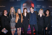 Randee Levine, Candice Stine, Karen Gladstone, Ana de Armas, Demian Bichir, Loreen Babcock, and Serena Budhwani attend CORAZON, Tribeca Film Festival Public Screening and Red Carpet Event presented by Montefiore on April 22, 2018 in New York City.