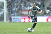 Jose Maria Basanta of Monterrey drives the ball during the 7th round match between Monterrey and Morelia as part of the Torneo Apertura 2018 Liga MX at BBVA Bancomer Stadium on August 25, 2018 in Monterrey, Mexico.
