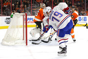Andrei Markov #79 of the Montreal Canadiens scores a goal against the Philadelphia Flyers during the first period at Wells Fargo Center on February 2, 2016 in Philadelphia, Pennsylvania.