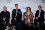 Actors Victor Garber, Derek Theler and Jennifer Stone, as well as JDRF President and CEO Aaron Kowalski, participate in a panel during the JDRF 2019 Children's Congress on July 09, 2019 in Washington, DC.