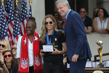 Morgan Brian The US Women's National Soccer Team Victory Parade And City Hall Ceremony