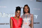 (L-R) Edwina Findley and Kiki Layne attend Alfre Woodard's 11th Annual Sistahs' Soirée Presented by Morgan Stanley With Absolut Elyx on February 05, 2020 in Los Angeles, California.