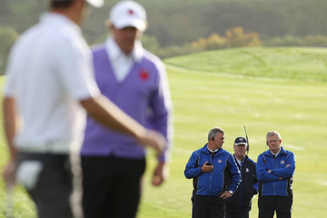 Darren Clarke Colin Montgomerie Morning Fourball Matches-2010 Ryder Cup