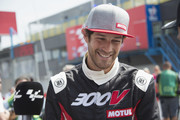 "Bruno Senna  of Brazil  smiles during the pre-event ""A race between a Yamaha M1 and a McLaren GT3"" during the MotoGP Netherlands - Preview on June 22, 2017 in Assen, Netherlands."