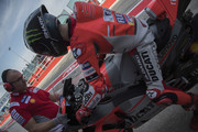 Jorge Lorenzo of Spain and Ducati Team returns in box during the MotoGP of San Marino - Free Practice at Misano World Circuit on September 7, 2018 in Misano Adriatico, Italy.