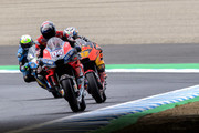 Andrea Dovizioso of Italy and Ducati Team leads the field during the MotoGP of Japan - Free Practice at Twin Ring Motegi on October 19, 2018 in Motegi, Japan.