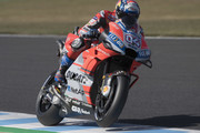 Andrea Dovizioso of Italy and Ducati Team  heads down a straight during the MotoGP of Japan - Qualifying at Twin Ring Motegi on October 20, 2018 in Motegi, Japan.