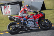 Andrea Dovizioso of Italy and Ducati Team returns in box during the MotoGP of Japan - Qualifying at Twin Ring Motegi on October 20, 2018 in Motegi, Japan.