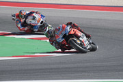 Jorge Lorenzo of Spain and Ducati Team  leads the field  during the MotoGP race during the MotoGP of San Marino - Race at Misano World Circuit on September 9, 2018 in Misano Adriatico, Italy.