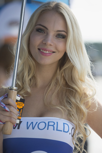 Grid Girl in MotoGp of Czech Republic: Practice - Zimbio