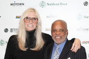 Chris Clark and Berry Gordy attends 'Motown: The Truth Is A Hit' Special Exhibit Premiere at Schomburg Museum on February 3, 2014 in New York City.