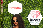 Shay Mitchell poses for a photo at the MoviePass x iHeartRadio Festival Chateau at The Chateau at Lake La Quinta on April 15, 2018 in La Quinta, California.