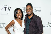 """Melissa Haizlip and Blair Underwood attend the """"Mr. SOUL!"""" screening during Tribeca Film Festival at Spring Studios on April 22, 2018 in New York City."""