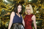 (L-R) Michelle Trachtenberg and Lydia Hearst attend the Mulberry 40th Anniversary celebration on the Rooftop at Skylight West on September 12, 2011 in New York City.
