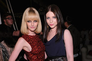 Lydia Hearst and Michelle Trachtenberg attend the Mulberry 40th Anniversary celebration on the Rooftop at Skylight West on September 12, 2011 in New York City.