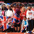 Mo Farah of Great Britain celebrates with fans after he won the Mens 3000m during the Muller Anniversary Games at London Stadium on July 9, 2017 in London, England.