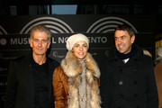 (L-R) Massimiliano Finazzer Flory, Martina Colombari, Billy Costacurta attend the Museo Del Novecento Opening on December 6, 2010 in Milan, Italy.