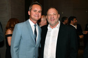 Roy Price (L) and Harvey Weinstein attend Museum of the Moving Image Award for Achievement in Media and Entertainment at Park Hyatt Hotel New York on June 6, 2017 in New York City.