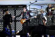 (L-R)  Robin Zander, Rick Nielsen, Tom Petersson and Daxx Nielsen of music group Cheap Trick performs on stage MusiCares Person of the Year honoring Aerosmith at West Hall at Los Angeles Convention Center on January 24, 2020 in Los Angeles, California.