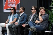 (L-R) Nathan Followill, Caleb Followill, Jared Followill, and Matthew Followill attend the Music City Walk Of Fame Induction Ceremony Honoring Kings Of Leon at Walk of Fame Park on September 21, 2012 in Nashville, Tennessee.