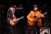 J Mascis and Sean Lennon perform 'Quicksand' onstage at The Music Of David Bowie At Radio City Music Hall at Radio City Music Hall on April 1, 2016 in New York City.
