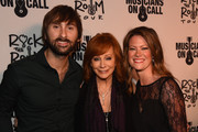 Lady Antebellum's Dave Haywood, Reba, and Kelli Cashiola attend the Musicians On Call Rock The Room Tour Kickoff Party at City Winery on October 21, 2015 in Nashville, Tennessee with the help of Reba, Martina McBride, Kelsea Ballerini and more to support its bedside tours for patients in hospitals. Learn more at www.musiciansoncall.org.