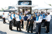 NASCAR Nationwide Series Director Joe Balash talks to NASCAR officials prior to the NAPA Auto Parts 200 at Circuit Gilles Villeneuve on August 20, 2011 in Montreal, Quebec, Canada.