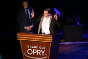 Monster Energy NASCAR Cup Series champion Kyle Busch speaks during the NASCAR Night At The Opry Hosted By PNC Bank at Ryman Auditorium on December 03, 2019 in Nashville, Tennessee.
