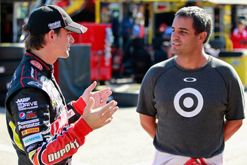 Pablo Montoya NASCAR Testing At Michigan International Speedway