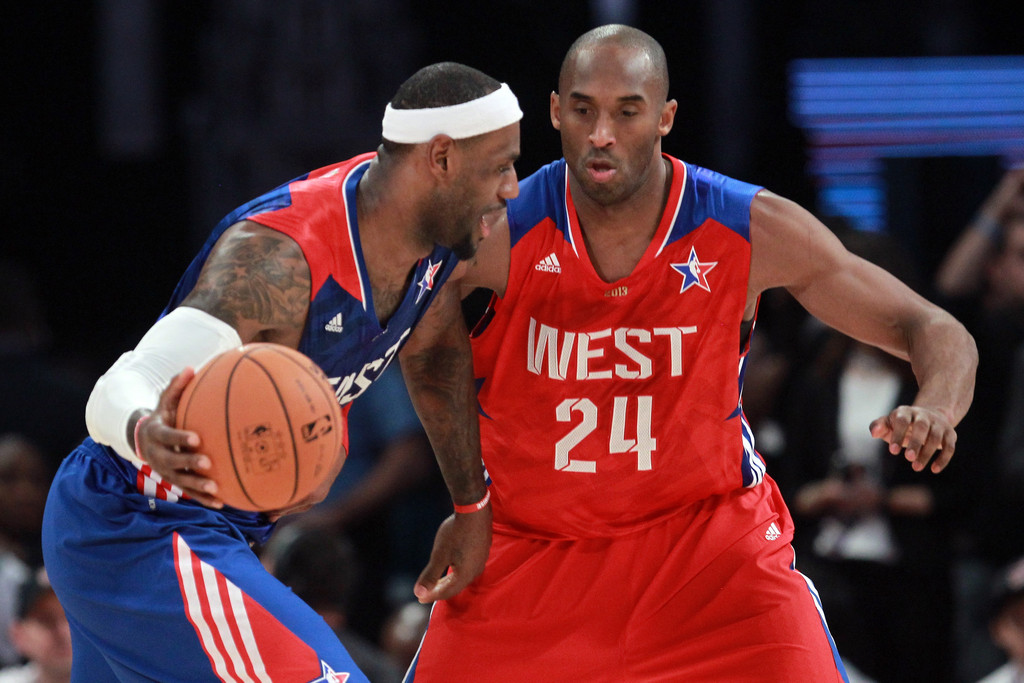 LeBron James and Kobe Bryant Photos Photos - NBA All-Star ...