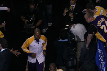 Kobe Bryant Derek Fisher NBA Finals Game 4: Los Angeles Lakers v Boston Celtics