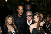 (L-R) Larsa Pippen, Scottie Pippen, Mohamed Hadid, and Shiva Safai attend the NBA All Star Dinner Honoring Scottie Pippen on February 15, 2018 in Bel Air, California.