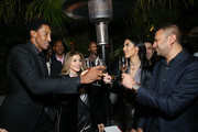 (L-R) Scottie Pippen, Larsa Pippen, Deyvanshi Masrani, and Kamal Hotchandani attend the NBA All Star Dinner Honoring Scottie Pippen on February 15, 2018 in Bel Air, California.