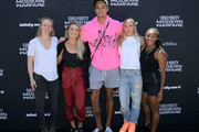 Women's soccer stars Becky Sauerbrunn and Julie Ertz, basketball star Kyle Kuzma, and women's soccer stars Allie Long and Crystal Dunn attend the Call of Duty: Modern Warfare multiplayer mode reveal in Los Angeles, CA on August 1, 2019.